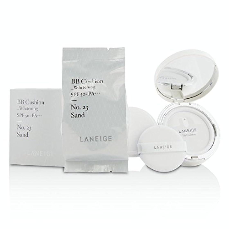 偏見ラブ刺繍[Laneige] BB Cushion Foundation (Whitening) SPF 50 With Extra Refill - # No. 23 Sand 2x15g/0.5oz