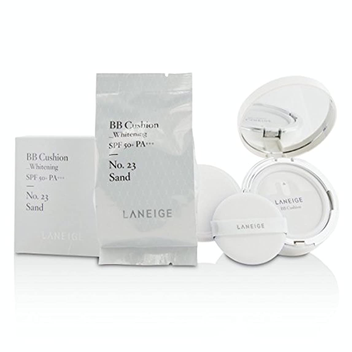 [Laneige] BB Cushion Foundation (Whitening) SPF 50 With Extra Refill - # No. 23 Sand 2x15g/0.5oz