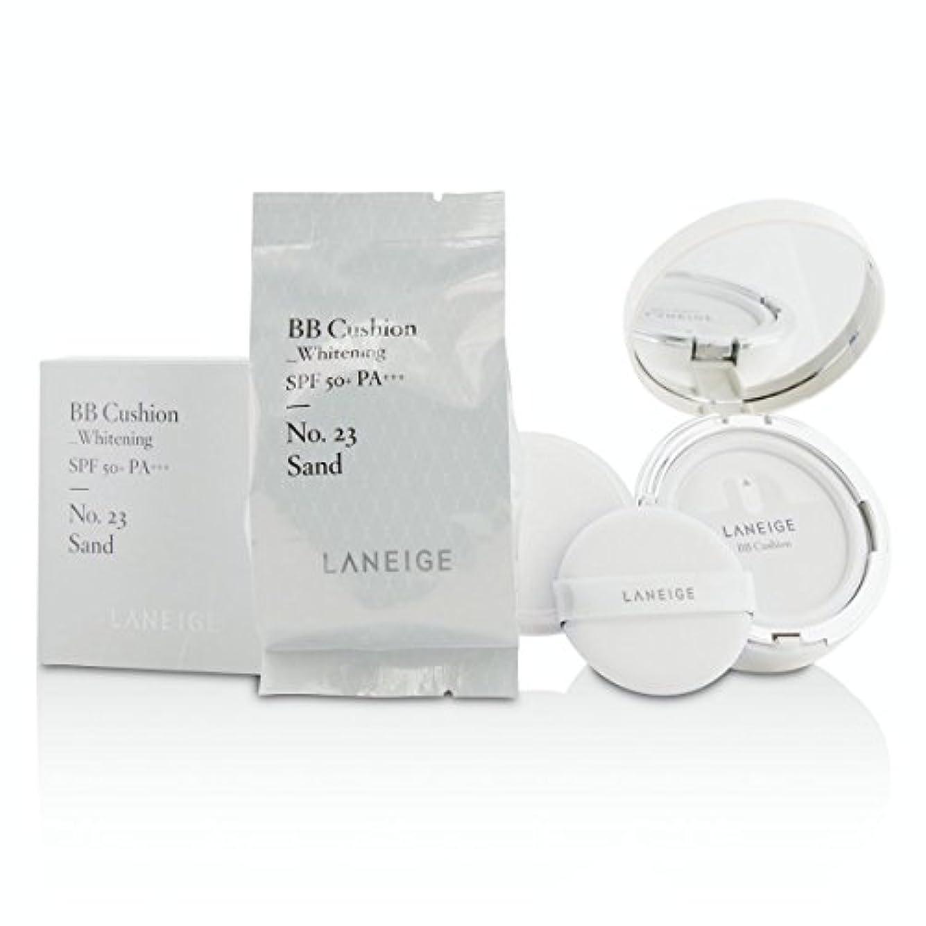 反対にひそかに慣性[Laneige] BB Cushion Foundation (Whitening) SPF 50 With Extra Refill - # No. 23 Sand 2x15g/0.5oz