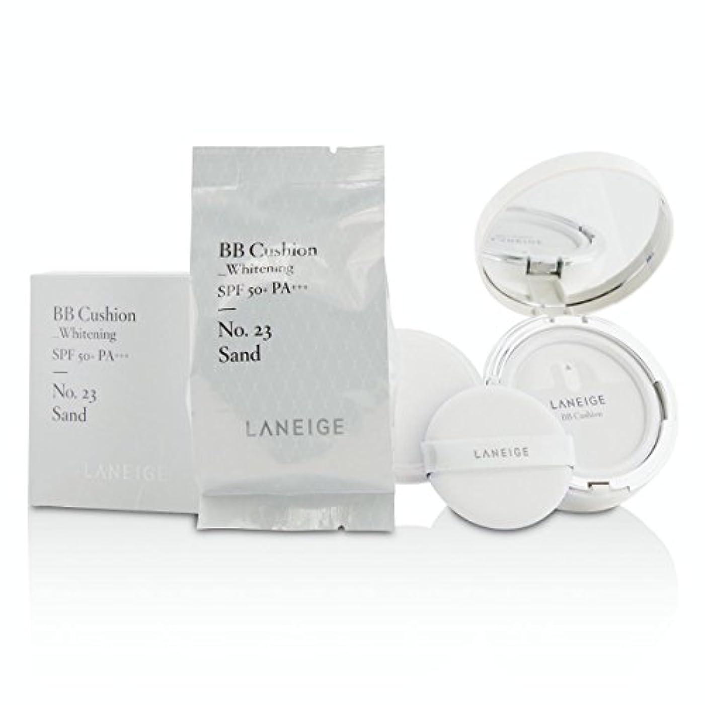正しく銀行解き明かす[Laneige] BB Cushion Foundation (Whitening) SPF 50 With Extra Refill - # No. 23 Sand 2x15g/0.5oz