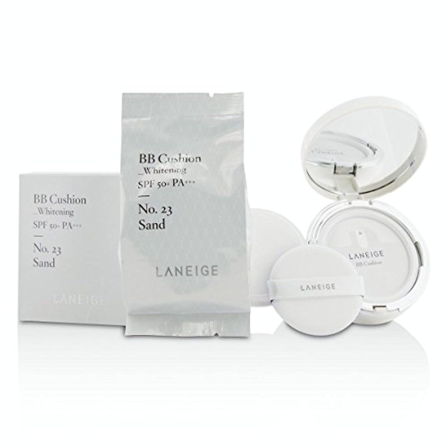 時制モンスター銛[Laneige] BB Cushion Foundation (Whitening) SPF 50 With Extra Refill - # No. 23 Sand 2x15g/0.5oz