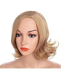 CATYAA ゴールデンヘアカラーと顔に変更することができるウィッグヘアスタイルの女性のウィッグヘアスタイル40センチメートルの疲れ (Color : Gold)
