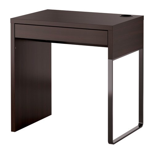 IKEA(イケア) MICKE デスク ブラックブラウン