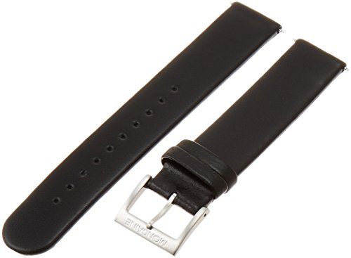 [해외][몽 딘] Mondaine 고전 순수 정품 가죽 스트랩 블랙 | 레드 매트 18mm 폭 FE3118.22Q.1/[Mondine] Mondaine Classic Pure Genuine Leather Strap Black | Red Mat 18 mm Width FE 3118.22 Q.1