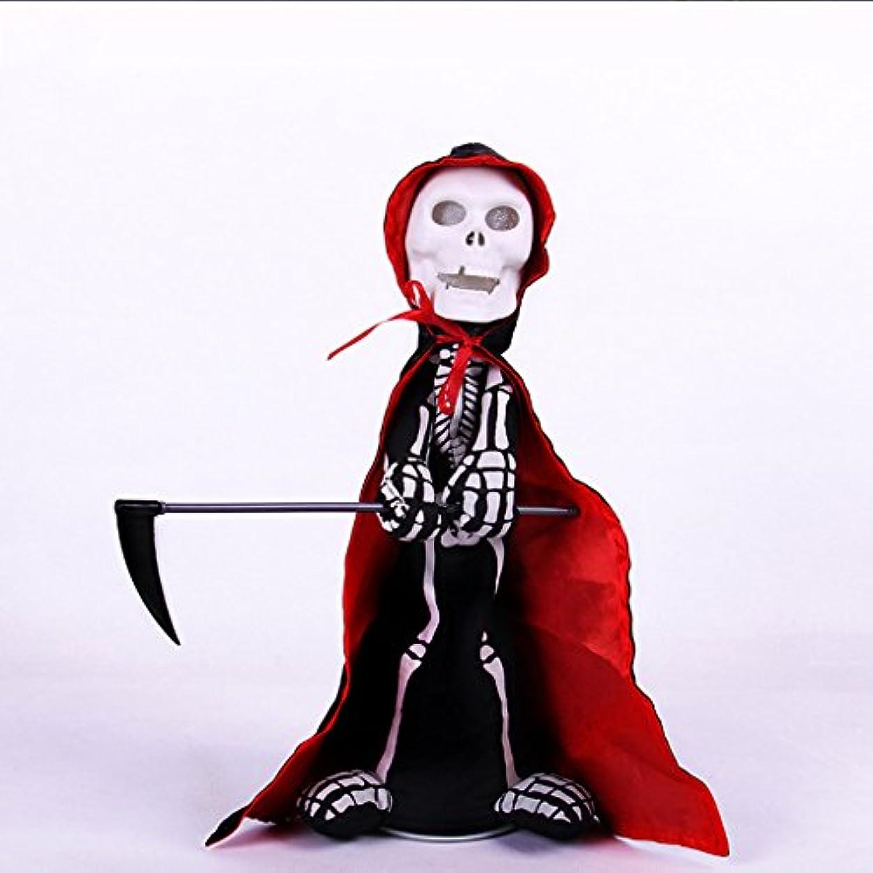 スティックリア王美的ハロウィン電気頭蓋骨整頓玩具クリエイティブギフトおかしい