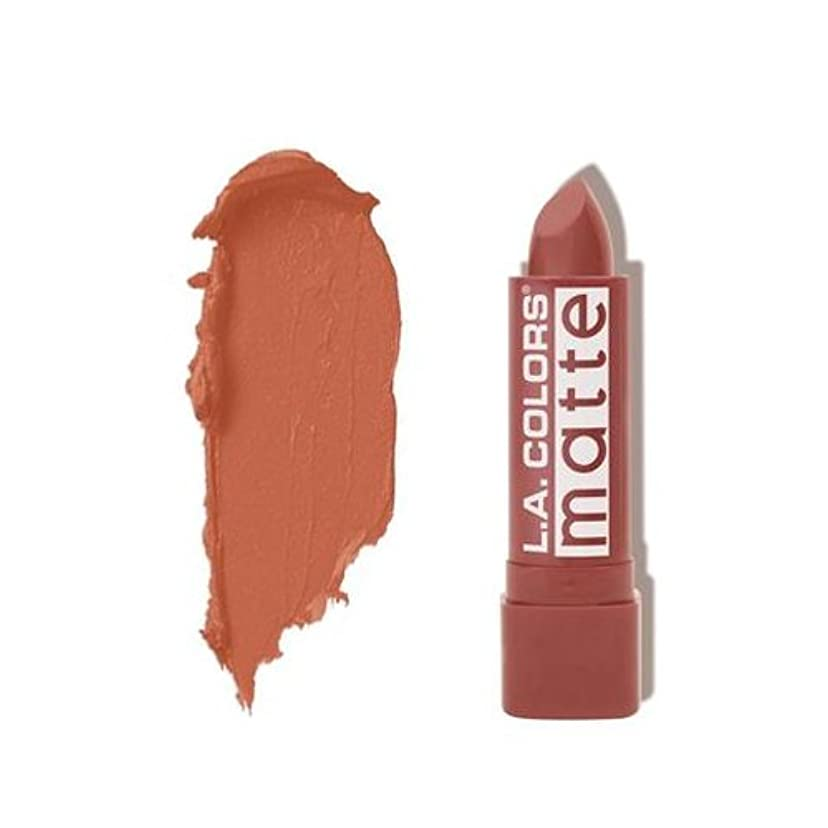 誤解させる散歩プラスチックL.A. COLORS Matte Lip Color - Caramel Cream (並行輸入品)