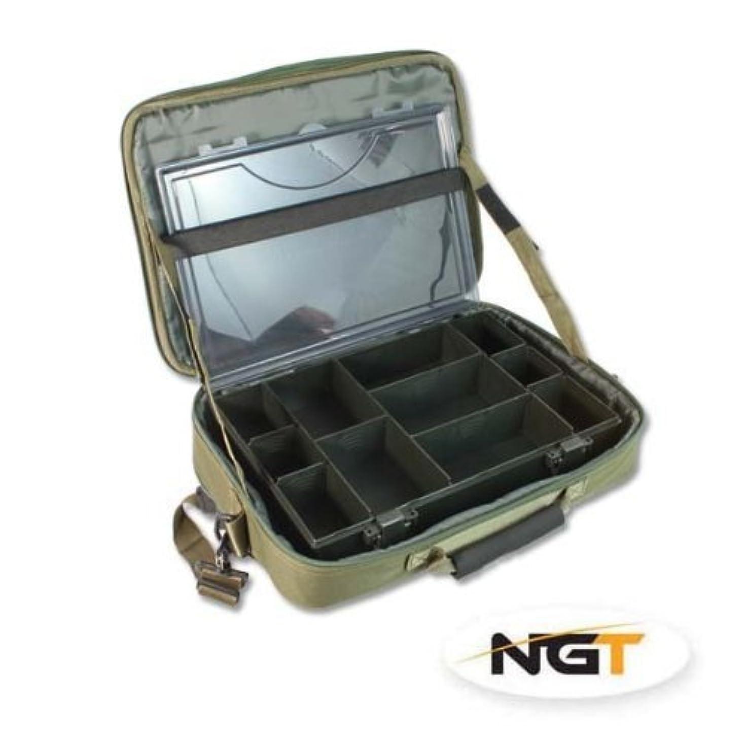 遺棄された変形タイヤNGTユニセックス611タックルボックスケースシステム、グリーン、40 x 36.5 X 6.5 CM by NGT