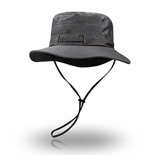 (ハンキンズ)Hankins ブーニーハット 大きい サイズ ビッグ サファリハット アドベンチャーハット ジャングルハット ハット 帽子 メンズ レディース 日除け 登山 キャンプ アウトドア 夏フェス ビッグサイズ 子供用 熱中症 対策 (DYF-02-グレー)