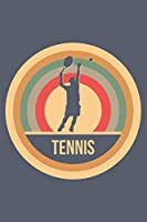 Tennis: Retro Vintage Notebook 6 x 9 (A5) Graph Paper Squared Journal Gift for Tennis Players And Tennis Lovers (108 Pages)