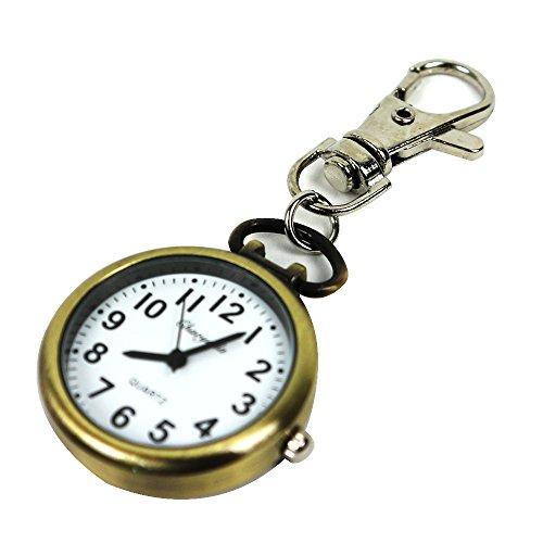 [해외]T &  F 키 체인 시계 작고 편리한 후크 회중 시계 문자판이 편안한 간호사 시계/T &  F key chain watch Small and convenient pocket watch with hook Nurse watch for easy dial face