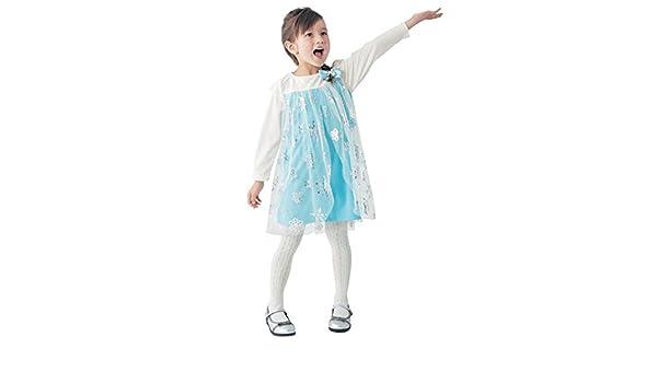 11c70653216ea Amazon.co.jp:  Disney ディズニー なりきりプリンセス風ワンピース(キッズ) エルサ エルサ(ブルー) 110   服&ファッション小物