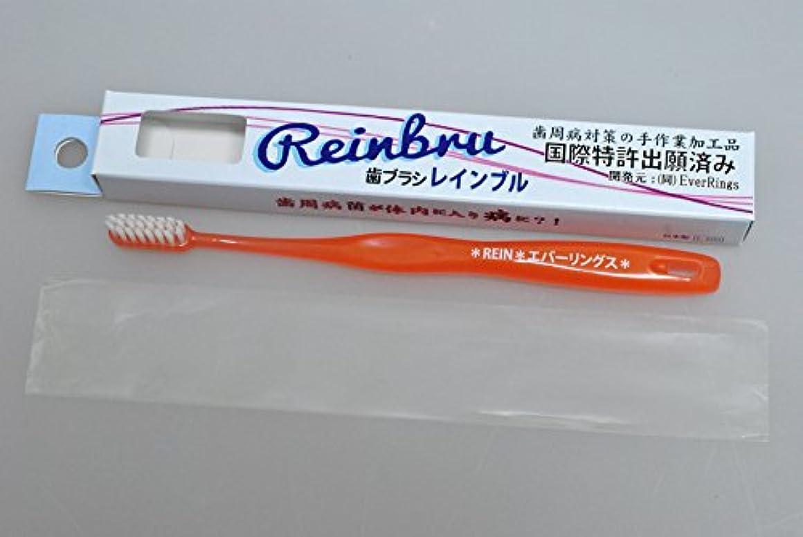 損傷鉄知っているに立ち寄るReinbru レインブル 歯ブラシ オレンジ色 細型 1本 お試し品 歯周ポケット磨き 歯間磨き
