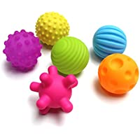 スーパー耐久性6パックSensoryボールベビーとキッズ、マッサージソフト&テクスチャボールのセット開発赤ちゃんの触覚Sensesおもちゃ幼児タッチの手ボール