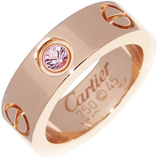 [カルティエ]Cartier K18PG(ピングゴールド) ピンクサファイア1P ラブリング 指輪 #45(5号) B40644 中古