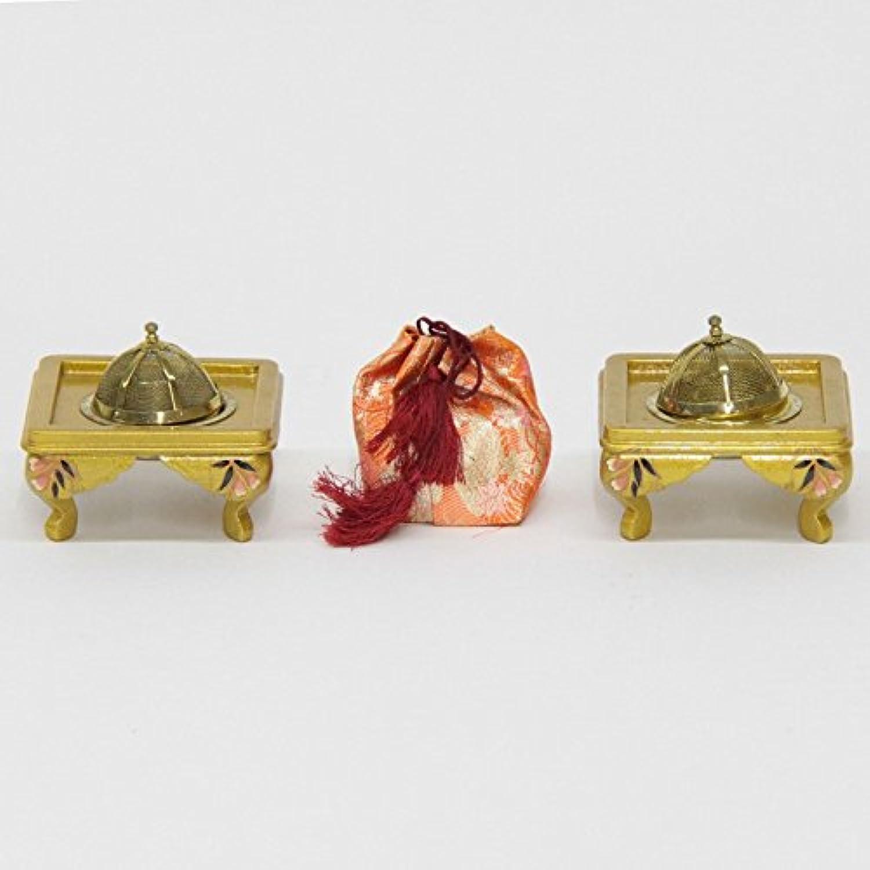 雛道具 アウトレット品 火鉢セット 幅32cm 18ya1229 ゴールド 枝垂れ桜
