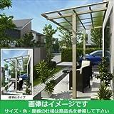 YKK 独立テラス屋根(600N/m2) エフルージュグラン ZERO 1間×5尺 標準柱(H2600) T字構造タイプ 熱線遮断ポリカ アルミカラー プラチナステン