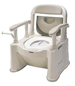 パナソニックエイジフリーライフテック ポータブルトイレ<座楽> 背もたれ型SP ベージュ VALSPTSPBE