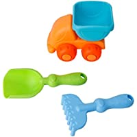 Lays 3pcs子供用幼児用子Beach Sand Toys Bucket車ショベルSpade Harrowギフト