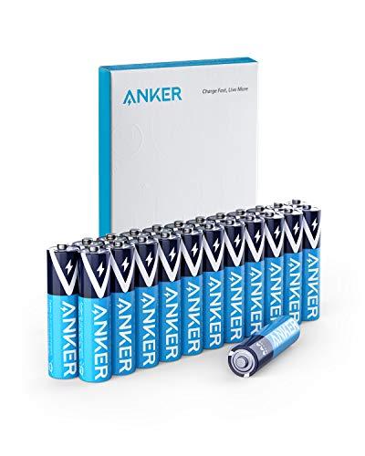 Anker アルカリ乾電池 単4形(24本パック)【10年間長期保存 / 液漏れ防止/リサイクル可能】