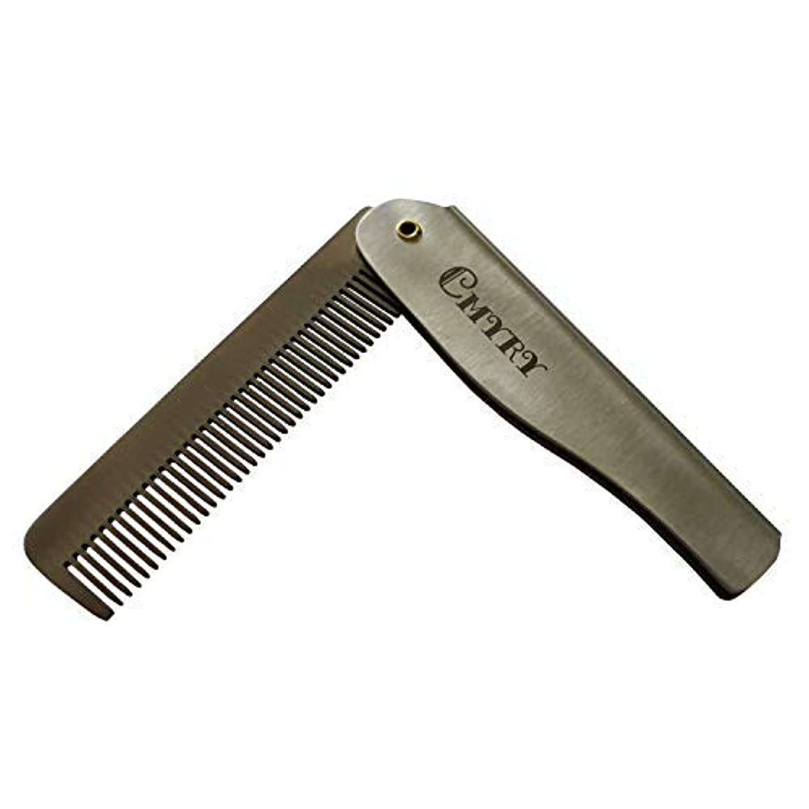 ダメージ経度開示するFolding Beard Hair Pocket Mustaches Pouch Comb Durable Anti-Static Comb for Men [並行輸入品]