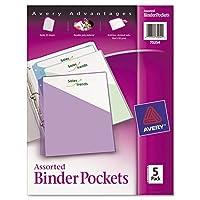 ring binder polypropylene pockets 8 1 2 x 11 assorted colors 5