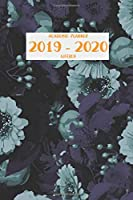 """Academic Planner 2019 - 2020 Weekly: July 1, 2019 - December 31, 2020   18 months   Priorities and To Do Column  6"""" x 9""""   Floral   Navy Aster (Flora & Fauna)"""