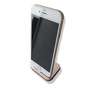 【Gn316】Color/ベージュ ゴールド iPhone SE iPhone6 充電スタンド iphone6s 充電器 iPhone 卓上ホルダー iphone6plus ドックスタンド iPhone5 クレードル ホルダー iPhone5s スタンド ドック dock 置き型 ドックアダプター 充電&データ転送用 Dock(ドック) スマホ充電