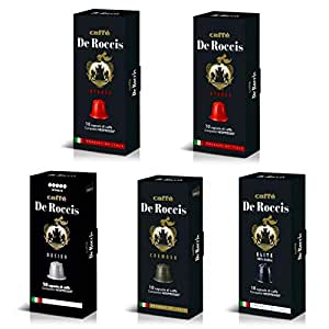 DeRoccis ネスプレッソ互換カプセル 4種類アソートセット 50カプセル入