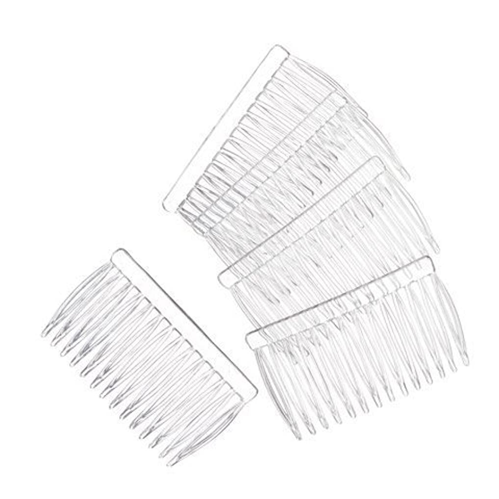 本物の責めマチュピチュJUXINDA 14 Clear Plain plastic Smooth Hair Clips/Combs 2 3/4