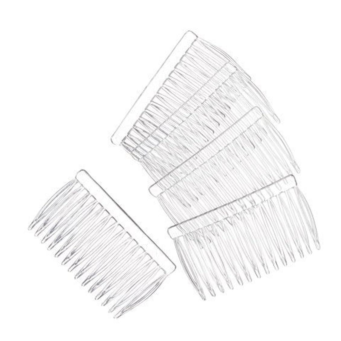 本部毒性ステッチJUXINDA 14 Clear Plain plastic Smooth Hair Clips/Combs 2 3/4