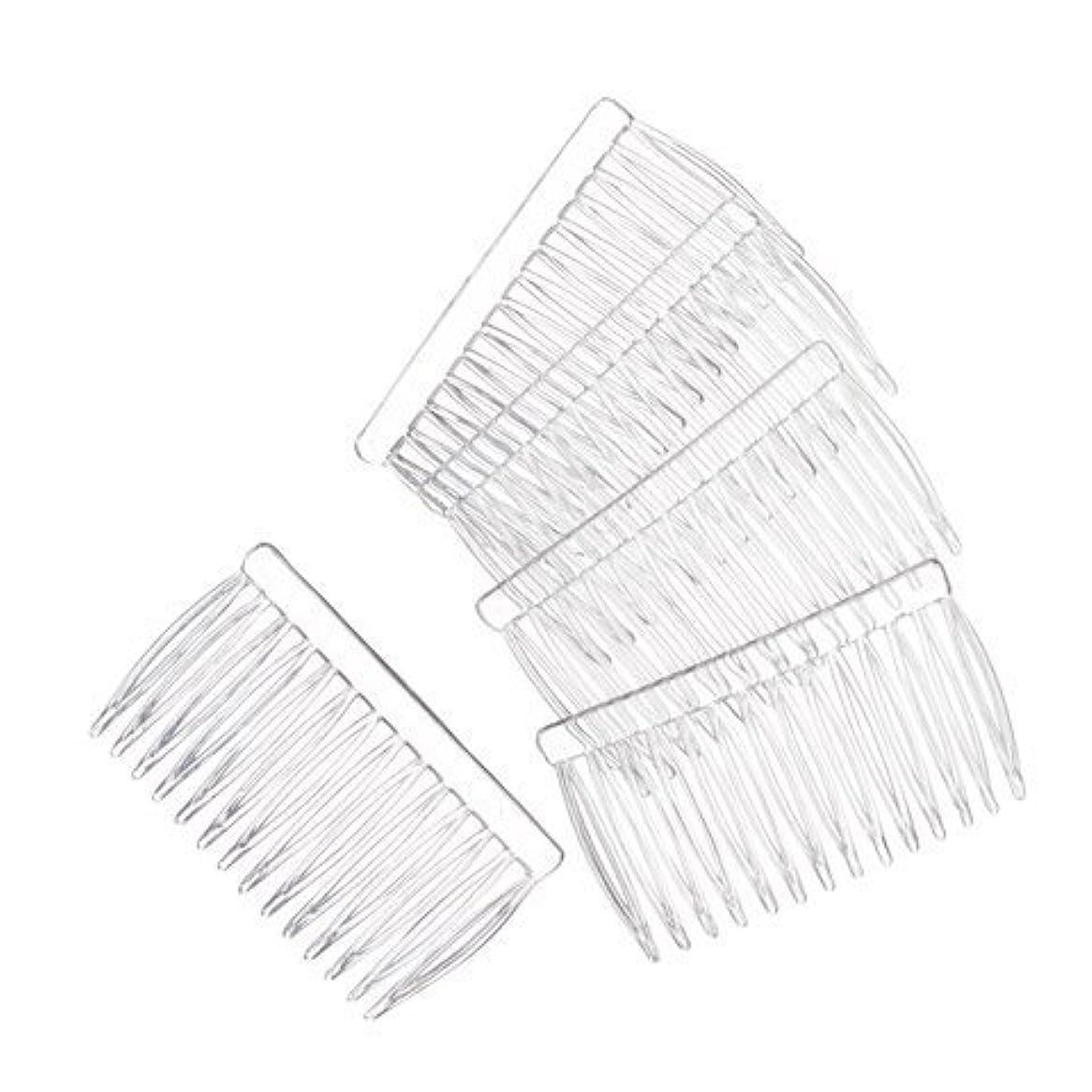 金額症候群文言JUXINDA 14 Clear Plain plastic Smooth Hair Clips/Combs 2 3/4