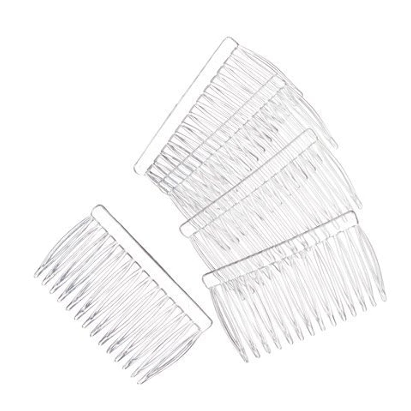 仕方統合成長JUXINDA 14 Clear Plain plastic Smooth Hair Clips/Combs 2 3/4