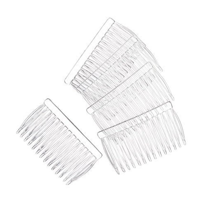 慣性疾患払い戻しJUXINDA 14 Clear Plain plastic Smooth Hair Clips/Combs 2 3/4