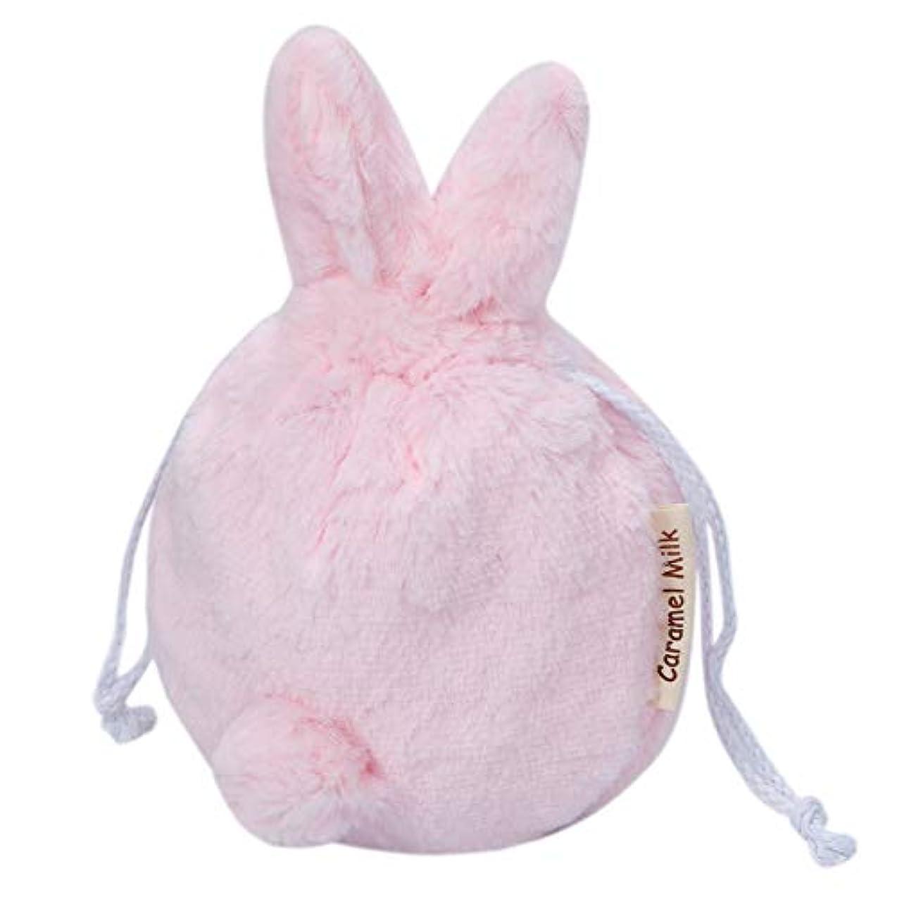 マラソン長々と冬CARAMEL MILK コスメポーチ 化粧バッグ 化粧ポーチ もふもふ うさぎ ポーチ 巾着袋 化粧品 旅行