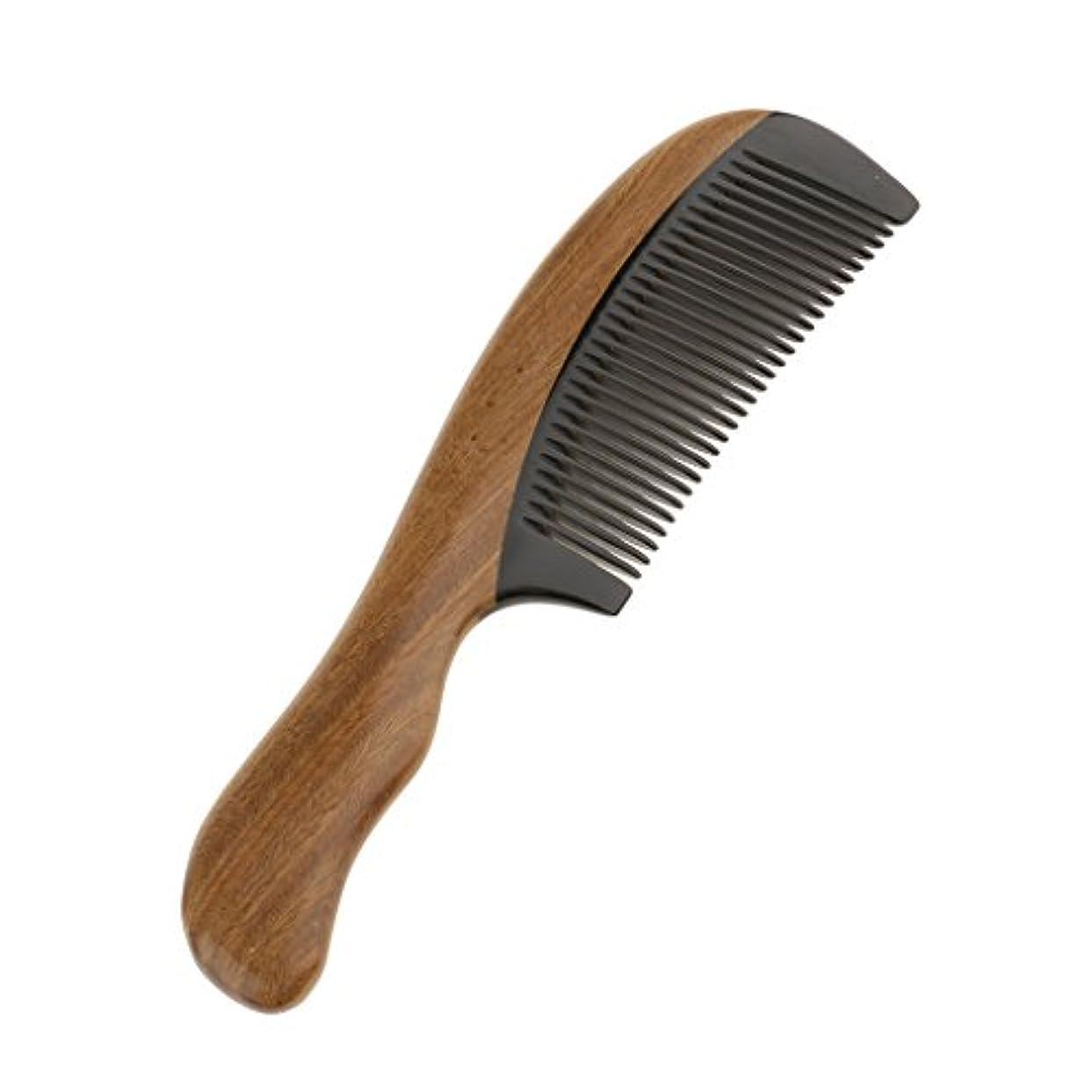 Perfk 木製 櫛 ヘアケア マッサージ コーム ウッド ポケット ヘアブラシ 高品質