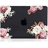 iDonzon MacBook Pro 13 inch Case (2016-2019 Release) A2159 A1989 A1706 A1708, 3D Effect Matte Black See Through Hard Case Cover Compatible Pro 13.3 inch w/Without Touch Bar Touch ID - Peony Black Base