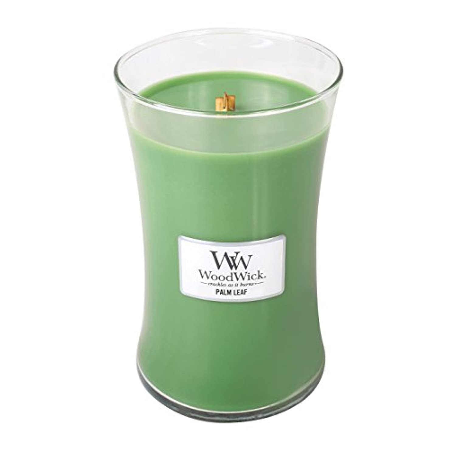 WoodWick PALM LEAF, Highly Scented Candle, Classic Hourglass Jar, Large 18cm, 640ml