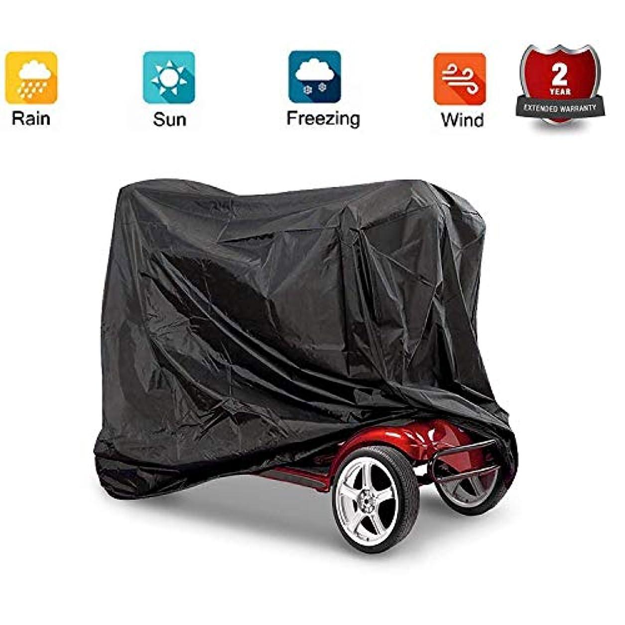 刺繍炭素そっとスクーターカバー、標準ヘビーデューティモビリティスクーターストレージ雨カバー防水Eldlyモビリティスクーターカバー140 * 66 * 91 cm