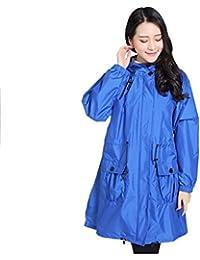 クライミング ウインドブレーカー 大人 Ms. レインコート 薄い 通気性のある 防水 ポンチョ 青 ジャケット