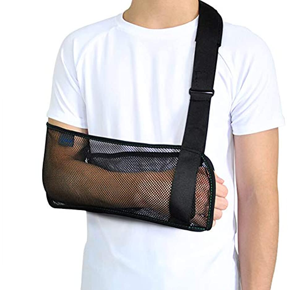 慎重に暗記する注ぎますメッシュアームスリング、医療用肩イモビライザー、骨折および骨折のサポート用,L