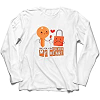 lepni.me Men's T-Shirt Only You Can Unlock My Heart Awesome Love Slogan