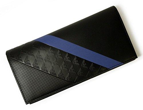アルマーニ ARMANI 長財布 二つ折 ブラック エンポリオアルマーニ YEM474 YKS2V 81072 A-2469 並行輸入品