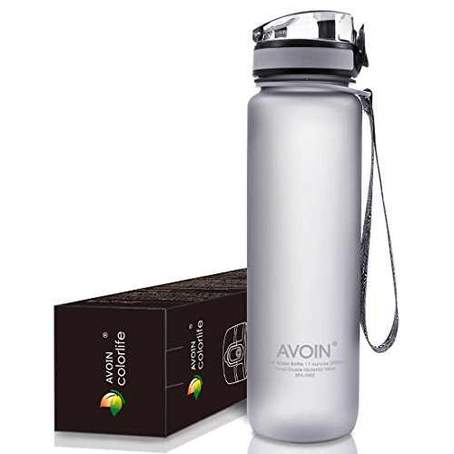AVOIN colorlife プラスチック製 スポーツボトル Tritan ウォーターボトル 500ml & 1000ml カラバリも豊富 直飲み BPA FREE