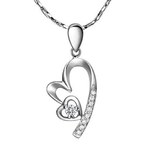 Fairy Heart オープンハート 1粒ネックレス ネックレス レディース プレゼント レディース スーパーキュービックジルコニア
