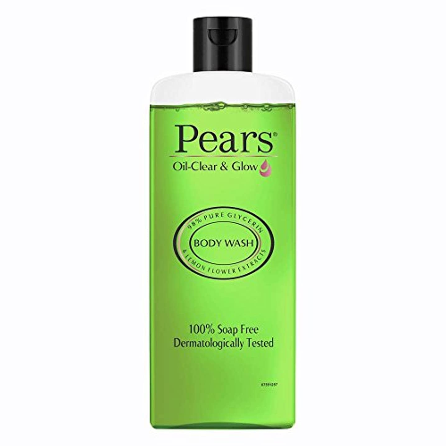リングレット混雑猫背Pears Oil Clear and Glow Shower Gel, 250ml