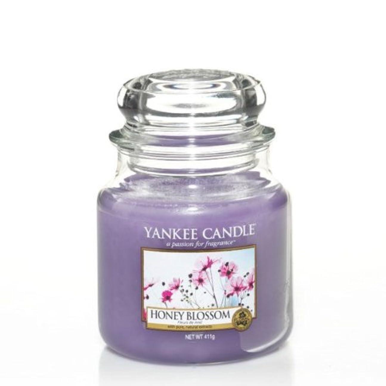 ペレットコミットメントインフルエンザYankeeキャンドルMedium Jar Candle – Honey Blossom