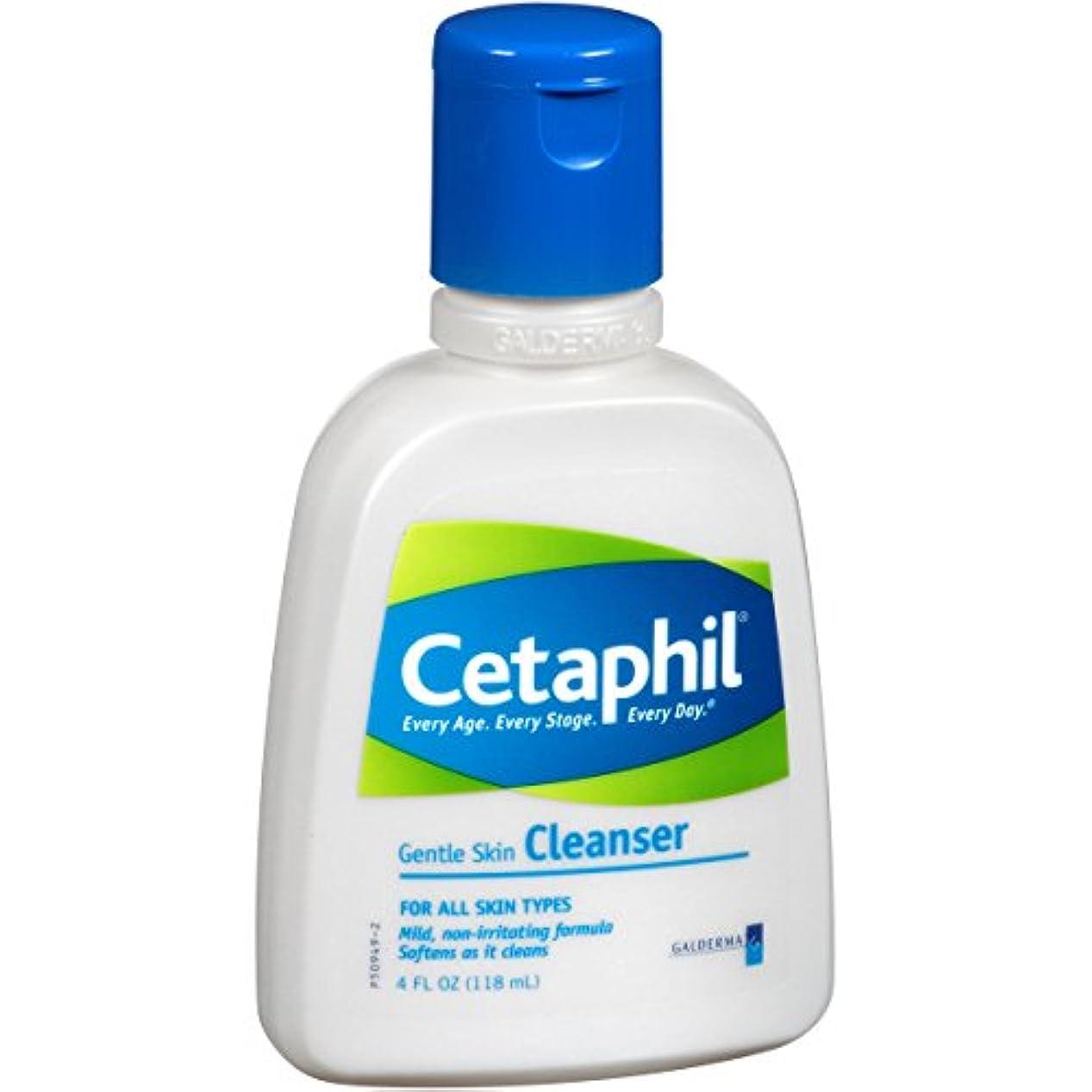 気取らない符号くぼみCetaphil ジェントルスキンクレンザーボトル、4流体オンス