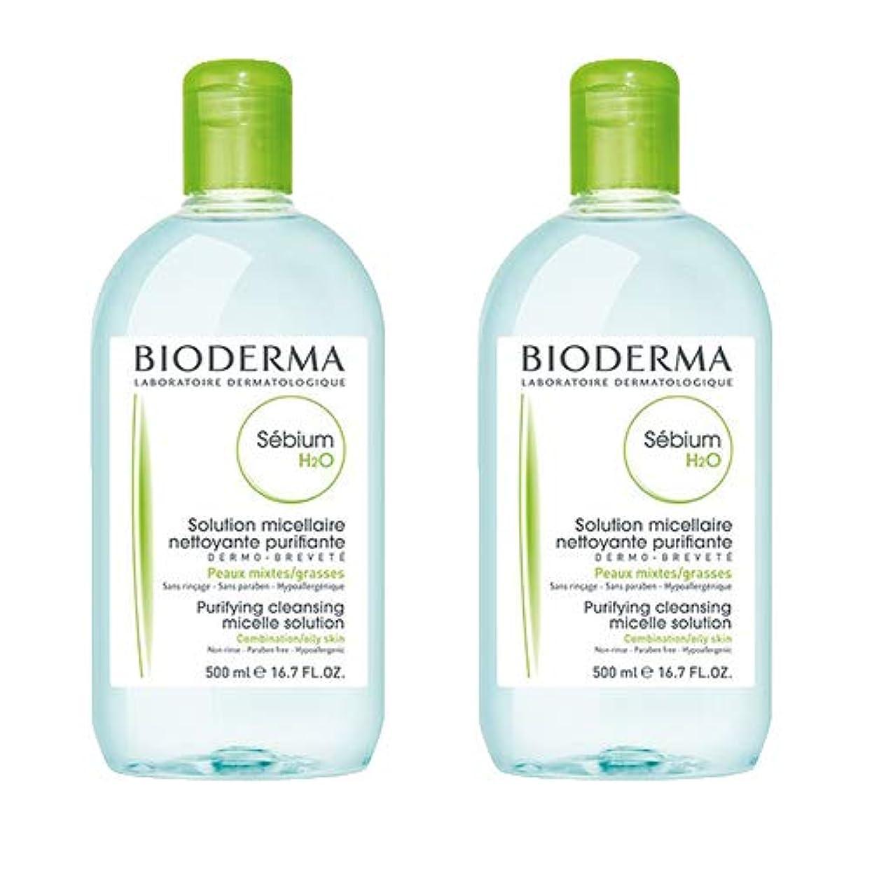 バリア解放するポルティコビオデルマ(BIODERMA) セビウム H2O(エイチ ツーオー)D 500ml×2本セット [並行輸入品]