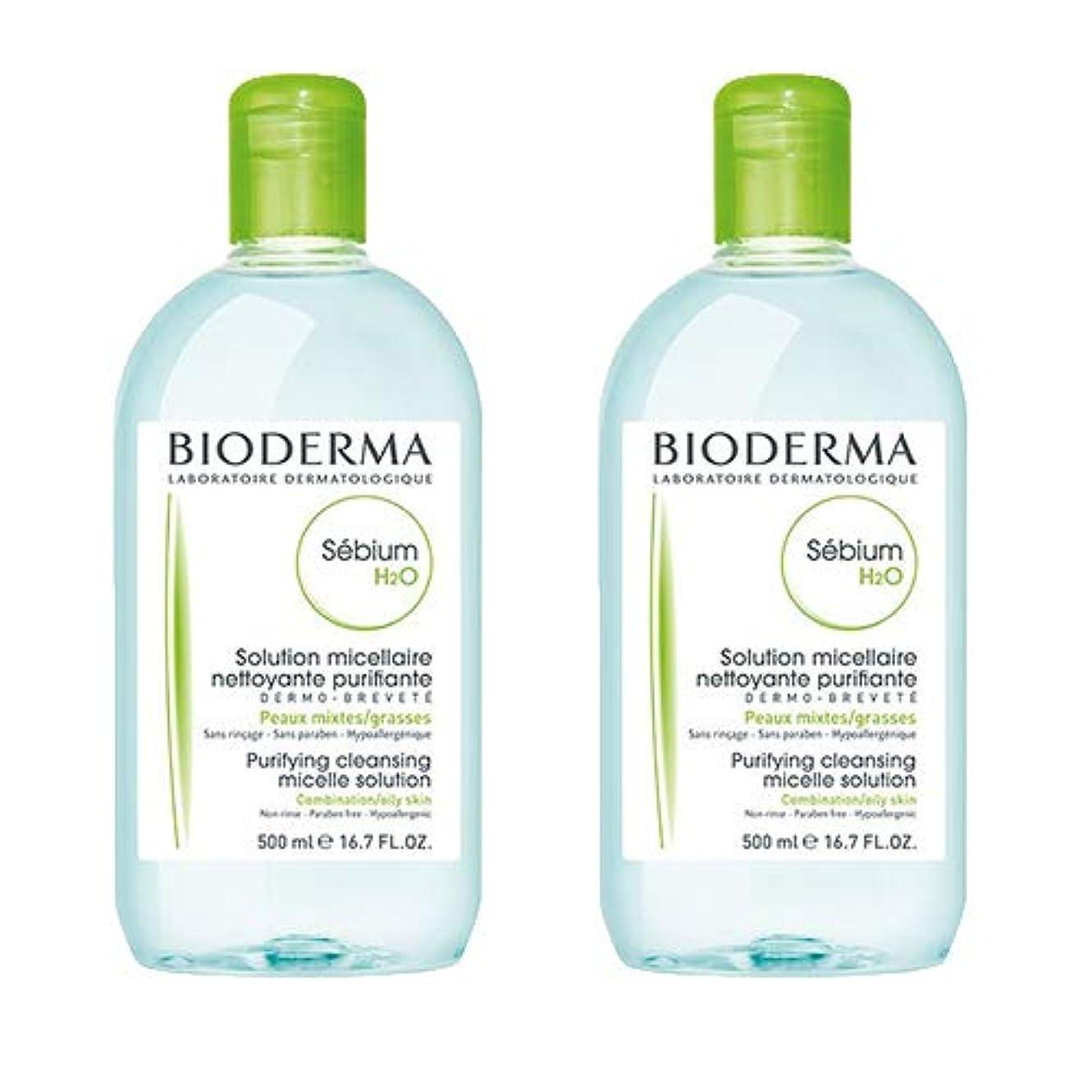 凶暴な液体排泄物ビオデルマ(BIODERMA) セビウム H2O(エイチ ツーオー)D 500ml×2本セット[並行輸入品]