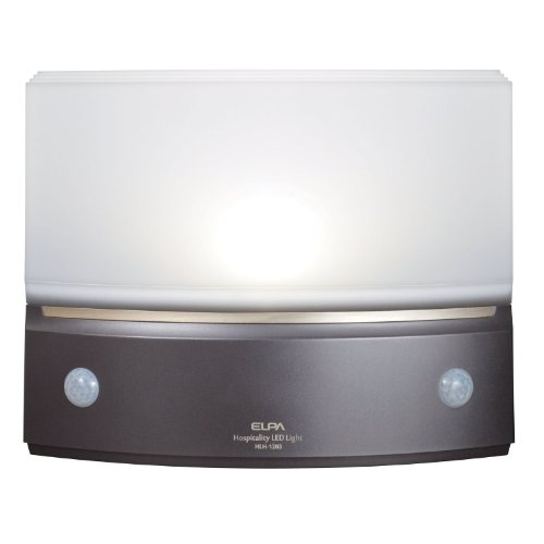ELPA もてなしのあかり 据置型薄型 3W白色LED HLH-1203(DB)
